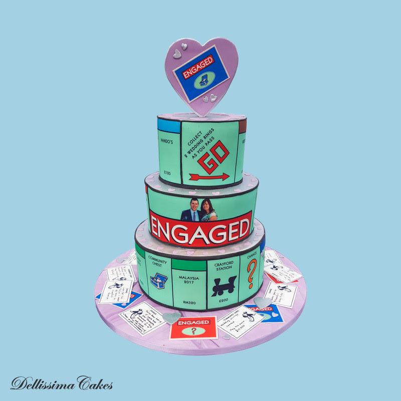 Monopoly Engagement Cake