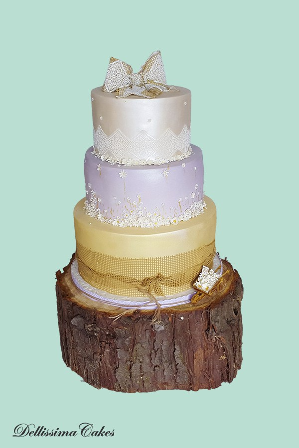 A well balanced 3 tier cake... it doesn't all have to be real cake though!