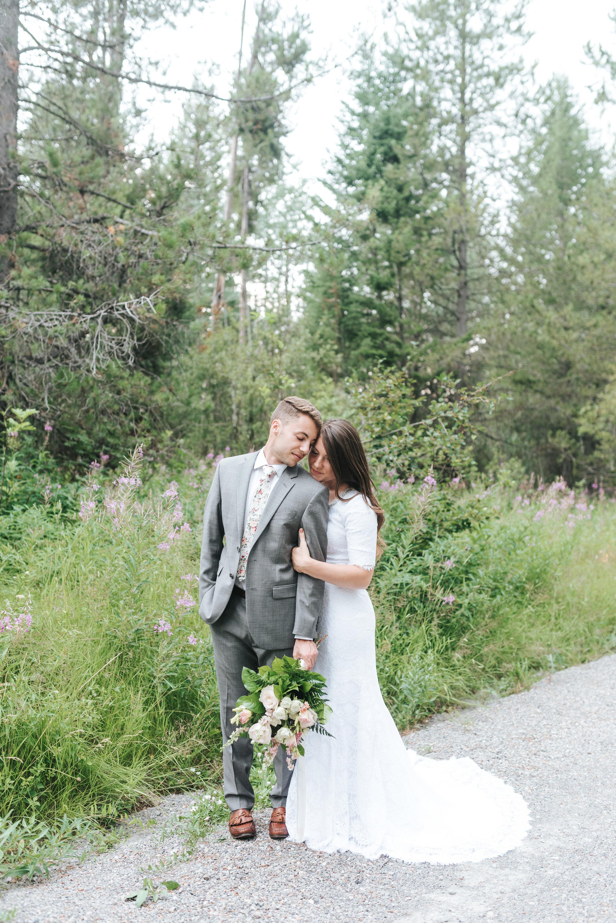 Rexburg Boise Idaho Mountain Wedding Elopement