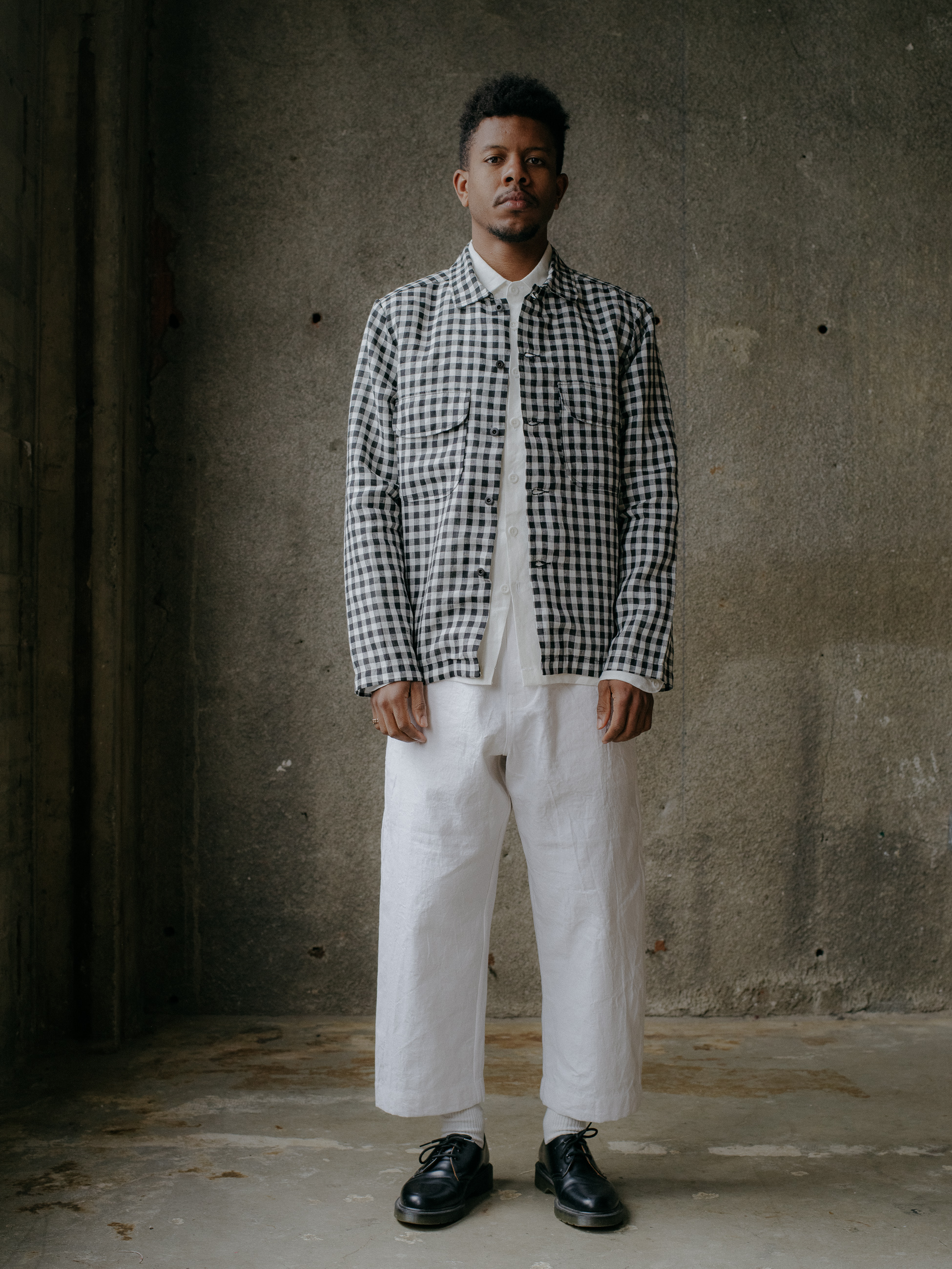evan-kinori-field-shirt-gingham-linen-japan-6