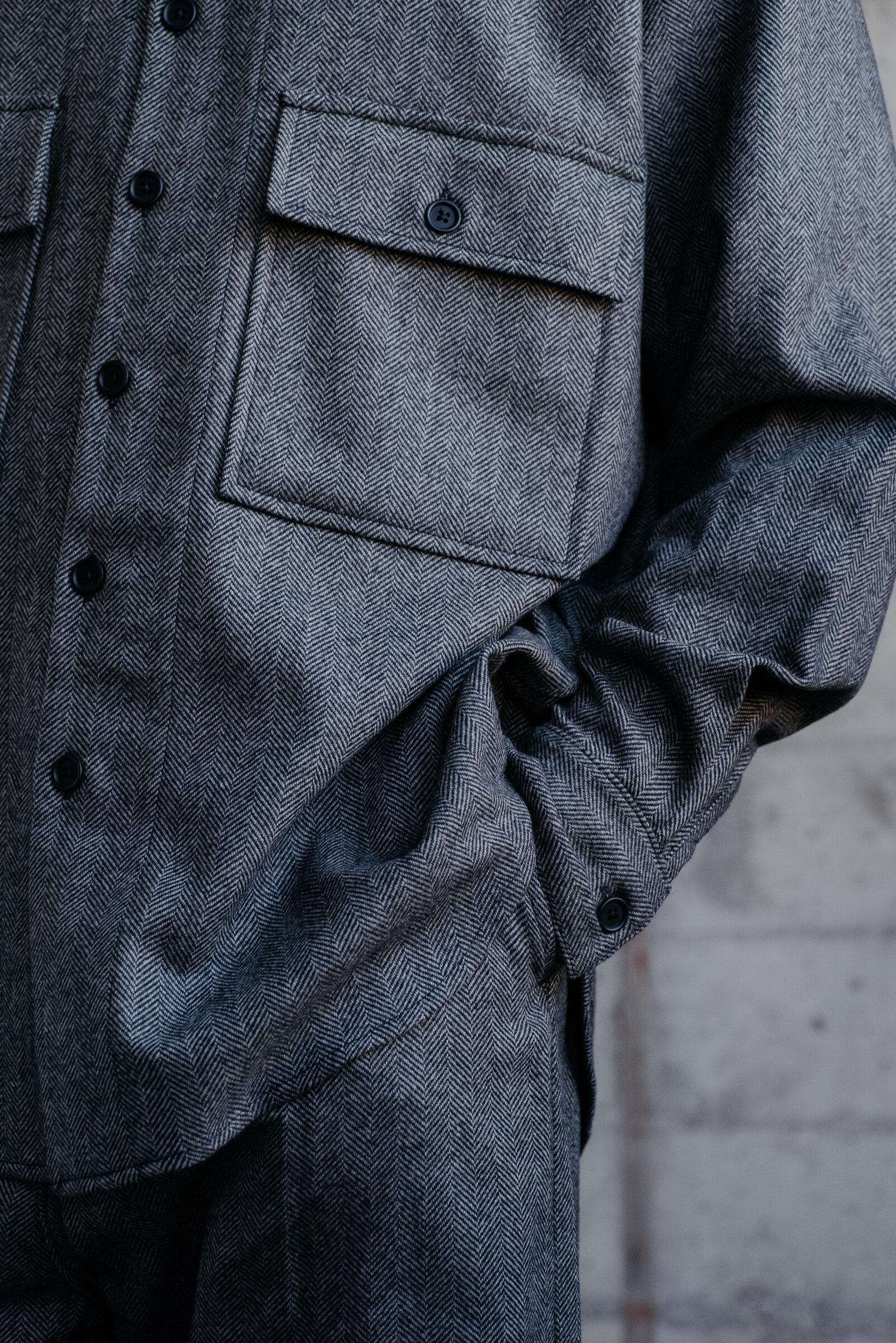 evan-kinori-big-shirt-cashmere-lambswool-herringbone-woven-england-11
