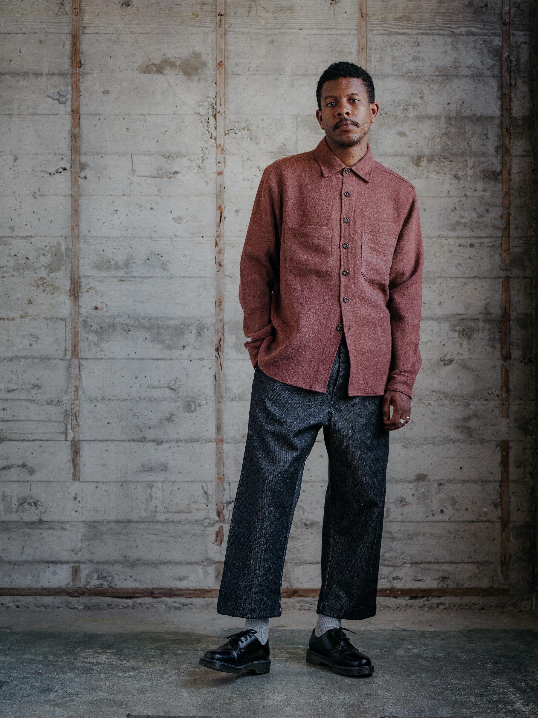 evan-kinori-two-pocket-shirt-linen-wool-twill-woven-in-japan-2