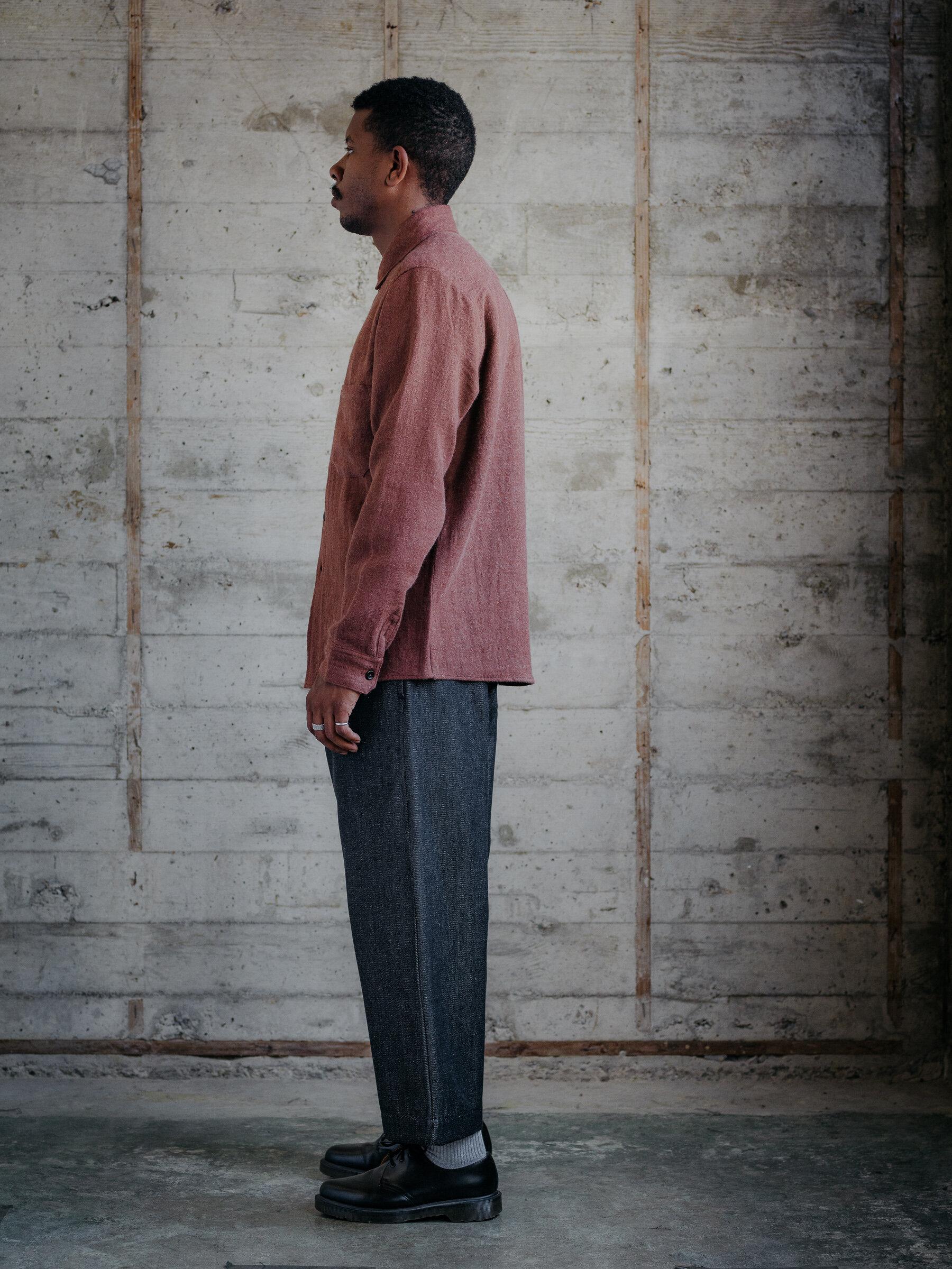 evan-kinori-two-pocket-shirt-linen-wool-twill-woven-in-japan-3