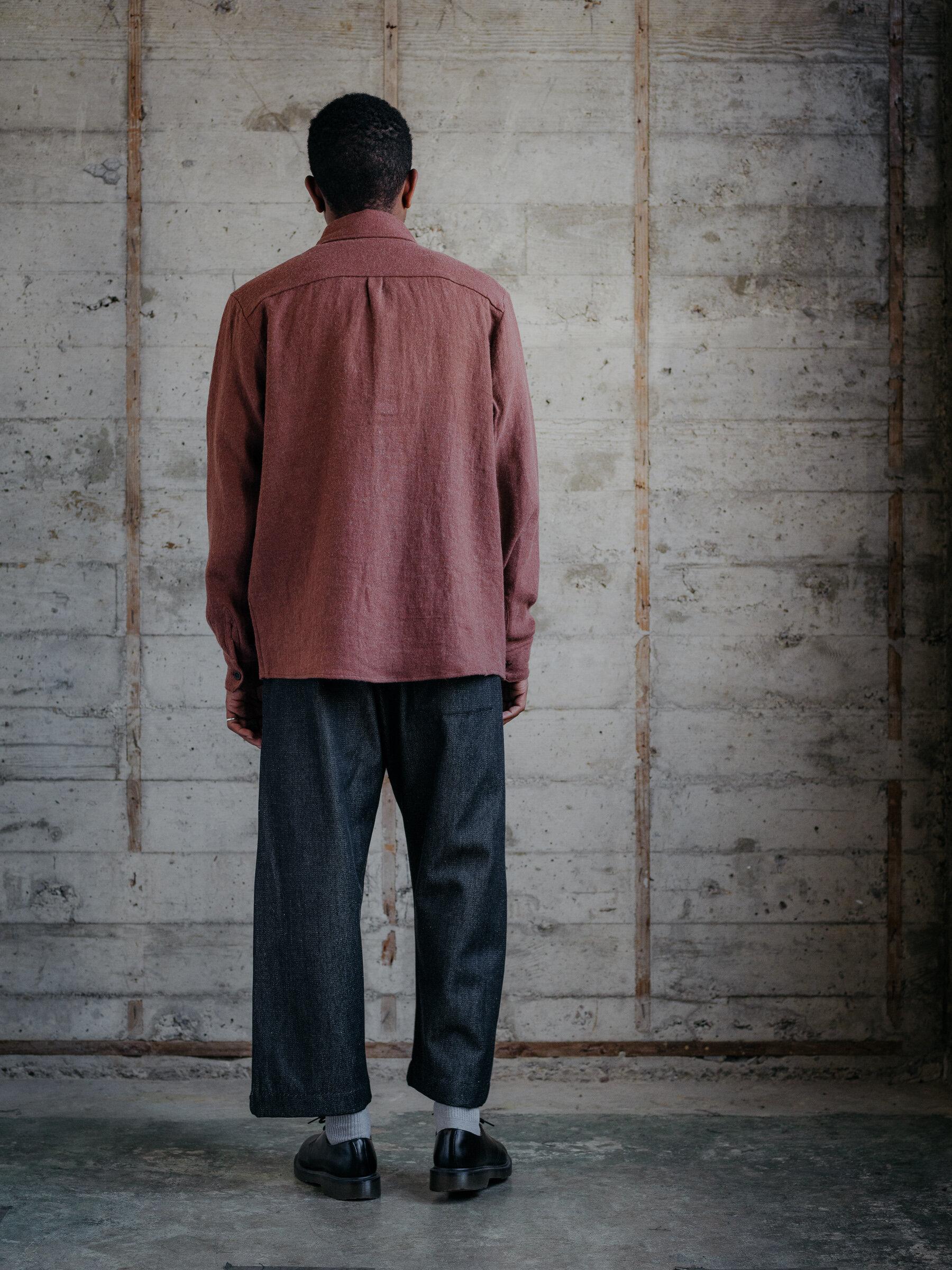 evan-kinori-two-pocket-shirt-linen-wool-twill-woven-in-japan-4