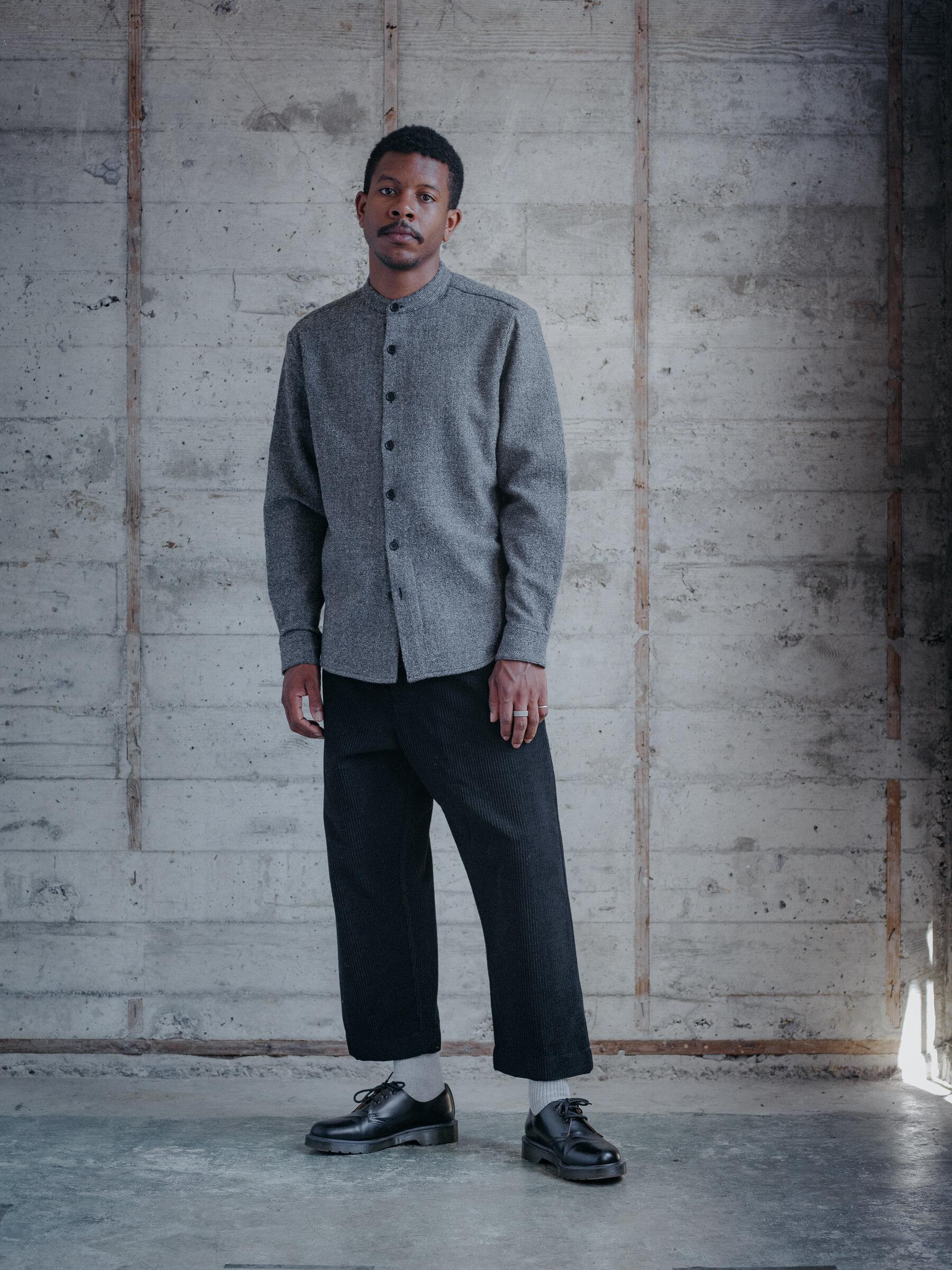 evan-kinori-band-collar-shirt-wool-gauze-woven-in-italy-1