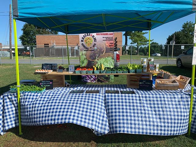 It's a beautiful day in Hampstead! Come see us at the market! #freshproduce #locallygrown #organic #farmfresh #pickles #eggs #farmersmarket