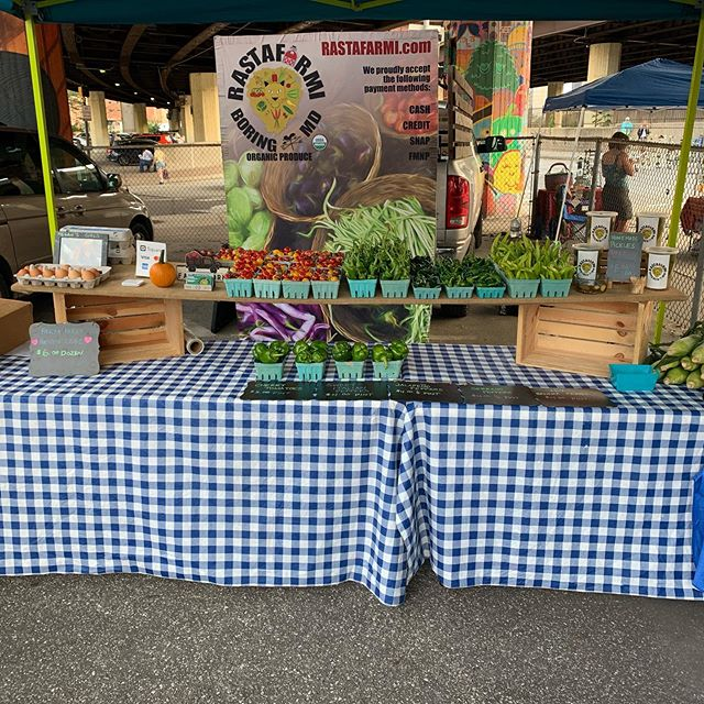 Come see us on this beautiful day in Baltimore! #produce #organic #farmersmarket #baltimore