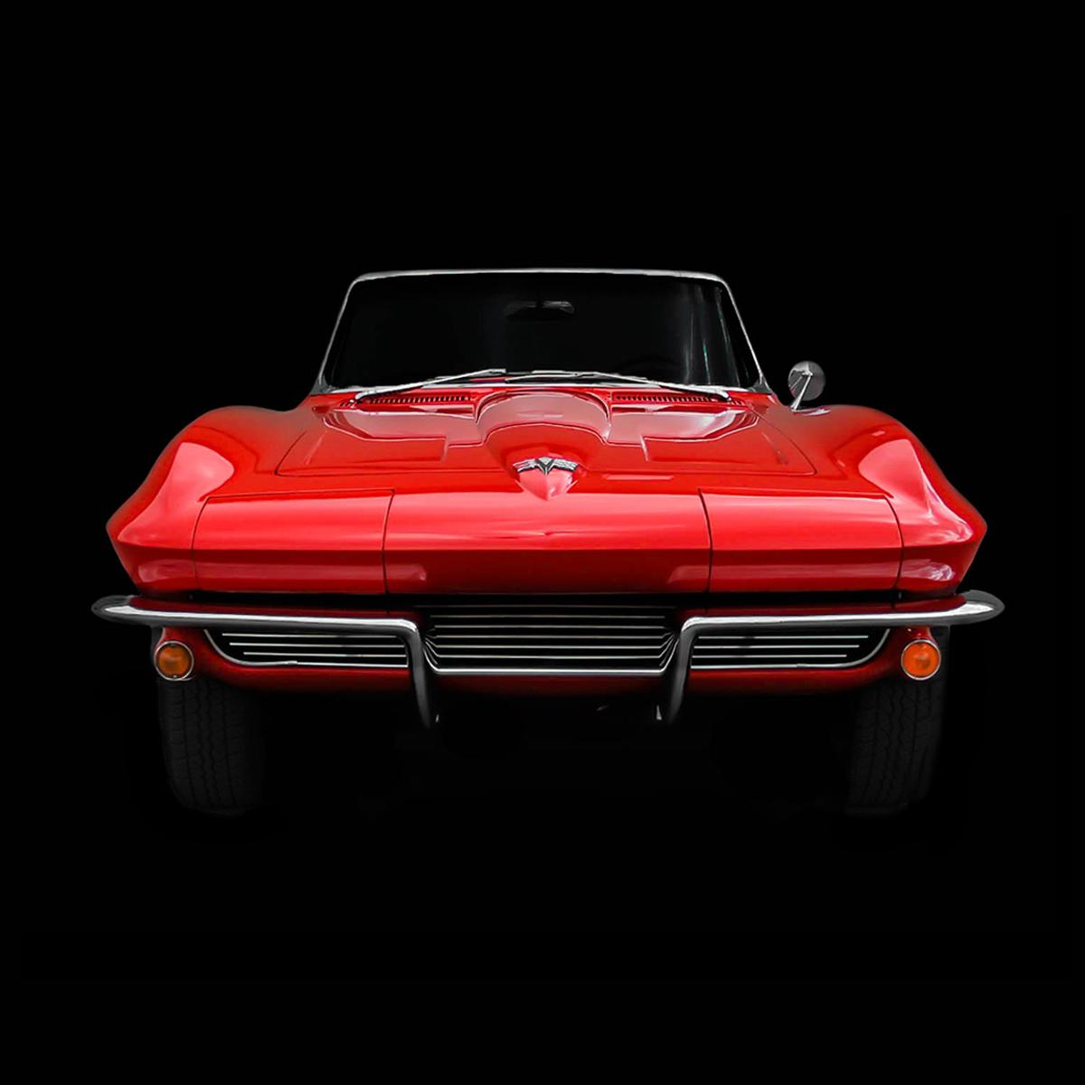 Voiture-ancienne-corvette-stingray-1964-front