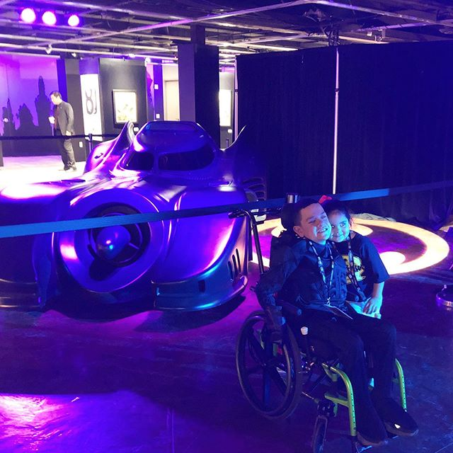 Jaiden and his family were treated to a private tour of the Comic Con Museum before our surprise Magic Wheelchair reveal. We'll let Jaiden's expression speak for itself when he saw his Batmobile for the very first time! 😉  Special thank you to @WarnerBrosEntertainment, @MonsterCityStudios, @Comic_Con, Jeff Watamura, and @DanglingCarrotConfections for making the magic come to life!