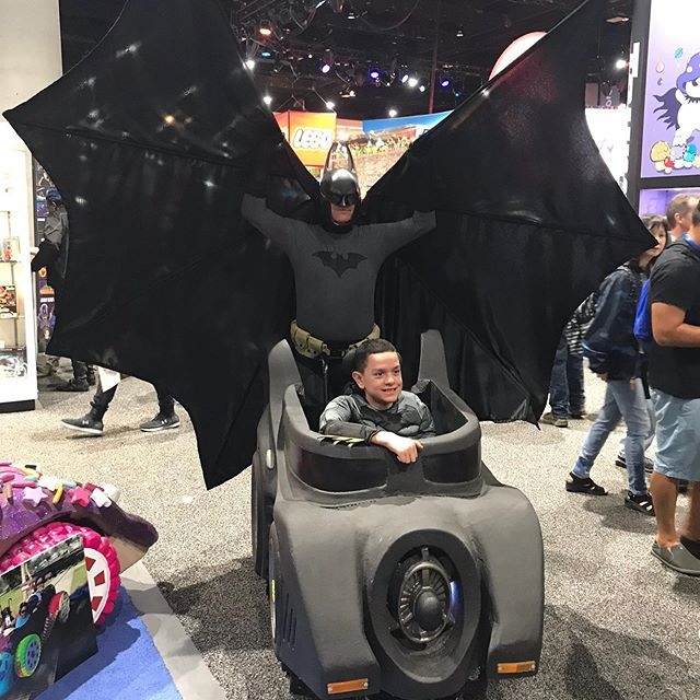 We had such a rocking time with Jaiden and his family at San Diego Comic-Con! Batman may be cool, but Jaiden is our HERO!  #comiccon #sandiegocomiccon #makingsmiles #charity #magicwheelchair #batman #batmobile #cosplay #nonprofit #inclusion #happy