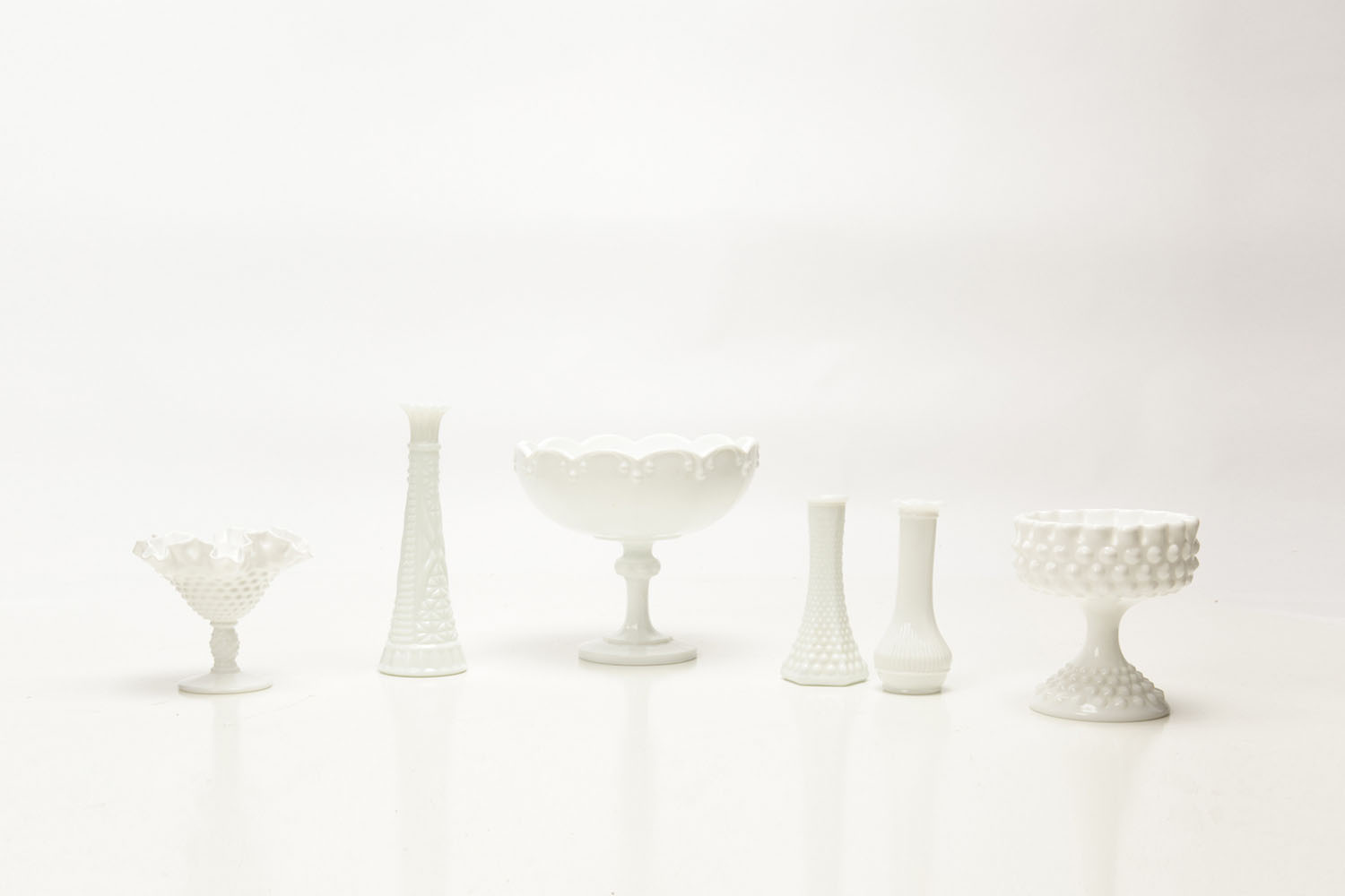 Milkglass Collection .75, 1.50, 3-