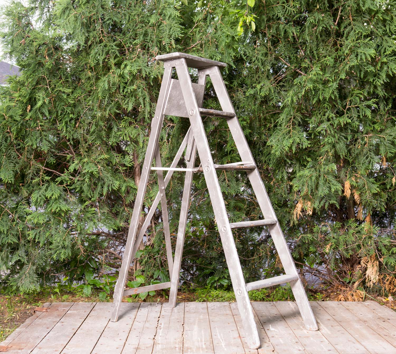 Silver Wooden Ladder 12-