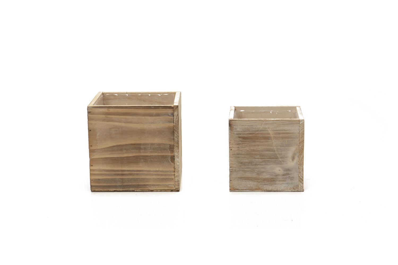 """Wood Cube (6"""") 3-, (5"""") 2-"""