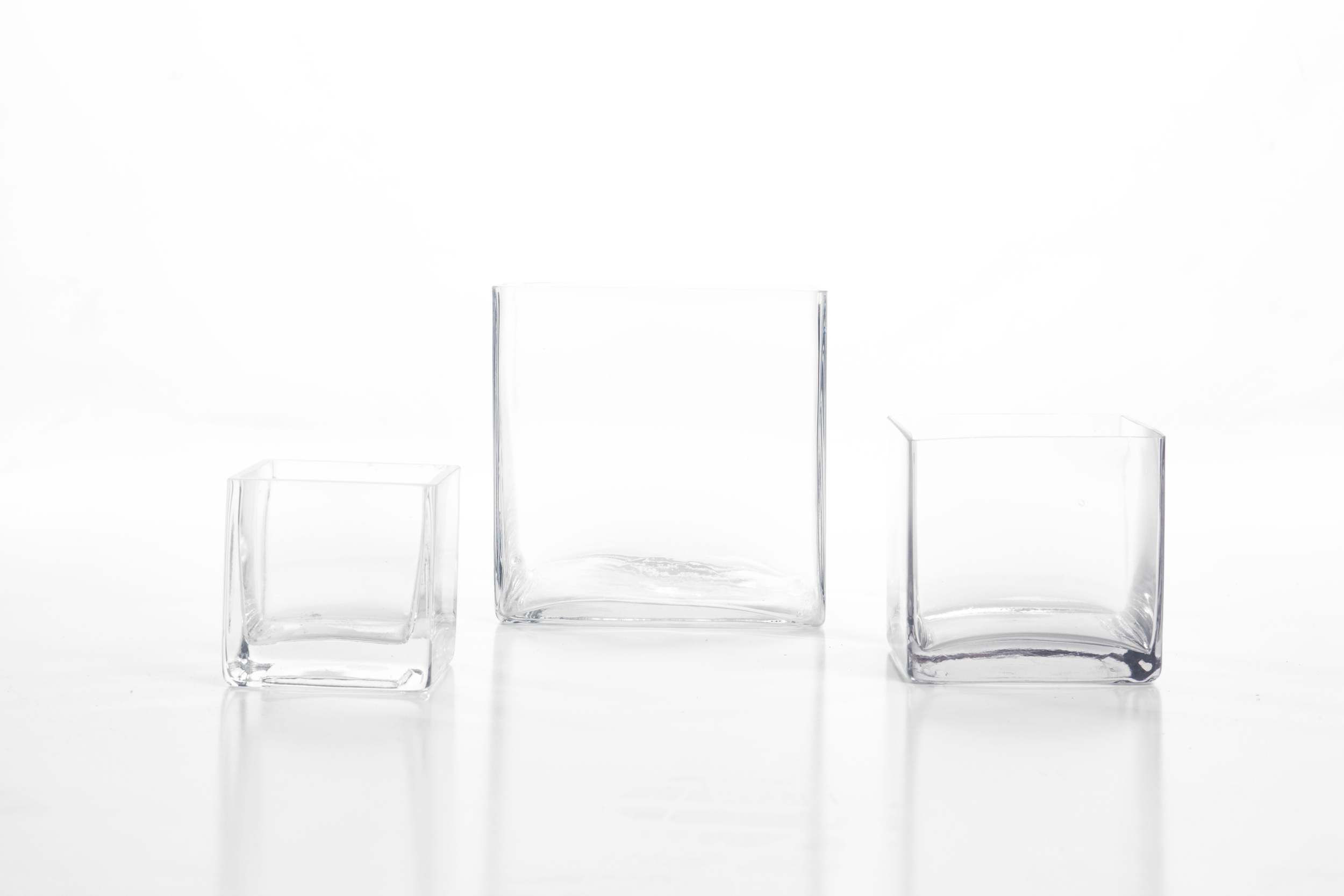 "Glass Cube 3"" 1-, 4"" 1.50, 6"" 3-"