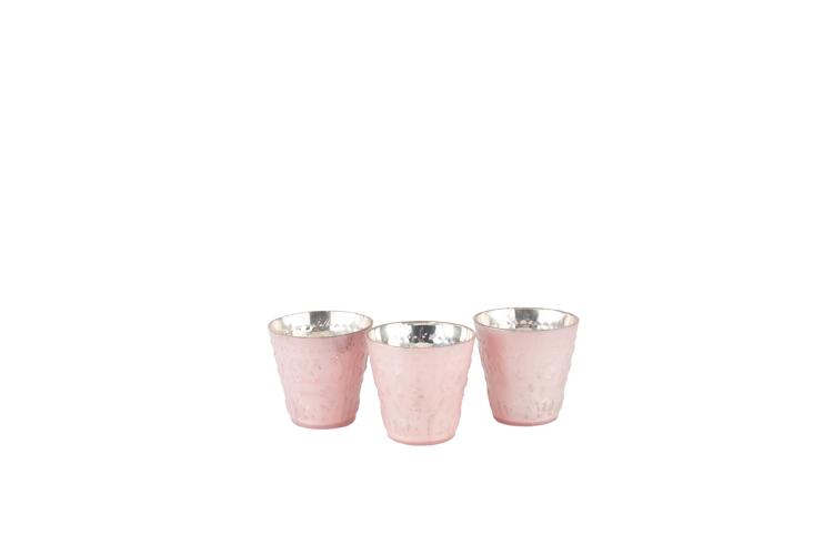 Pink Pastel Votive Holder 1-