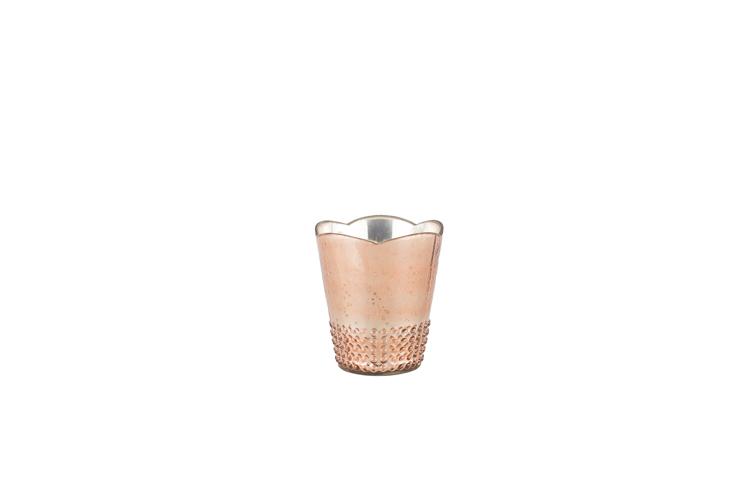 Rose Gold Mercury Glass Vase 2.50-