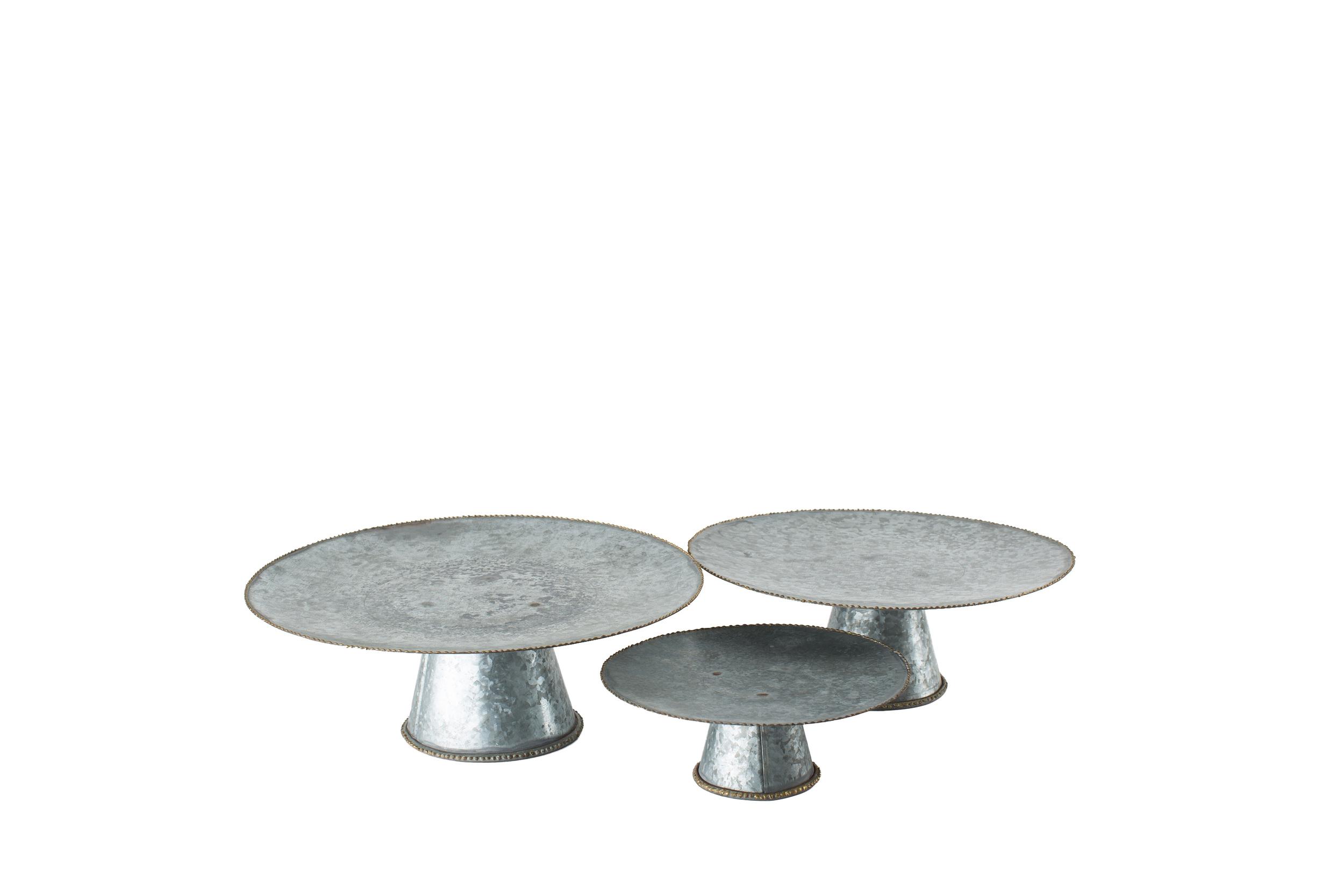 Galvanized Cake Plates