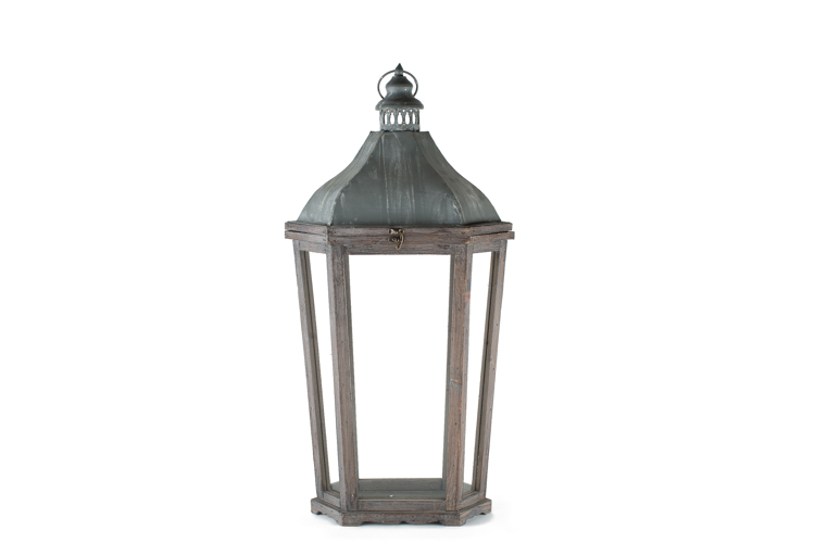 Tapered Rustic Lantern 25-