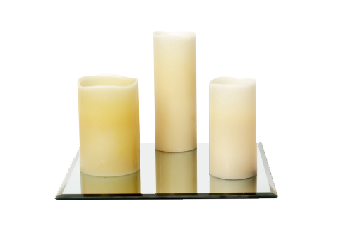 Battery Operated Pillar Candle (6x4) 4-, (8x3) 5-, (6x3) 3-