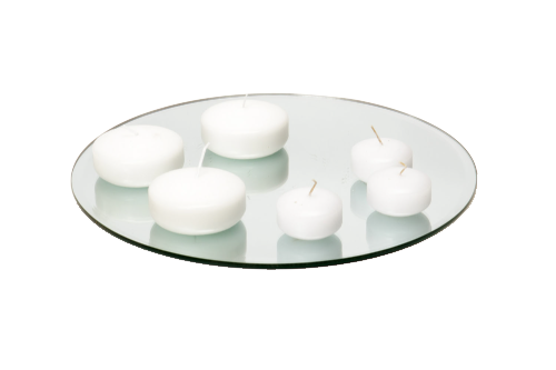 "Floating Disc Candle lg (3"") 4-, sm (2"") 1-"