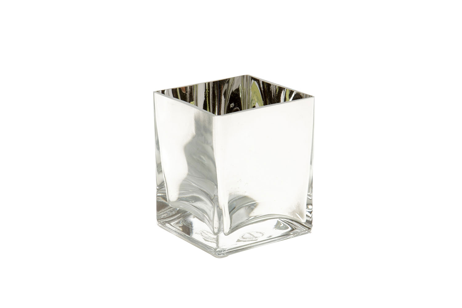 "Mirrored Glass Cube (5"") 3.75"