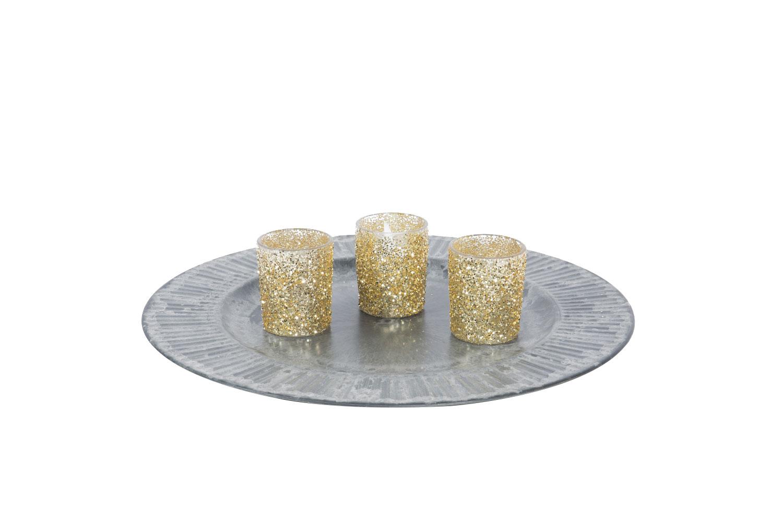 Gold Glitter Votive Holder .40