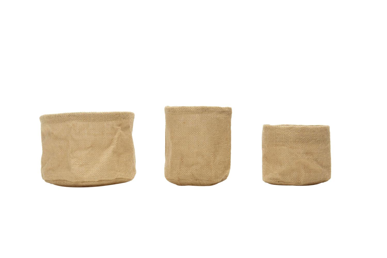 Burlap Vessellg (5x7) 1.50, med (6x5) 1-, sm (5x4) .50