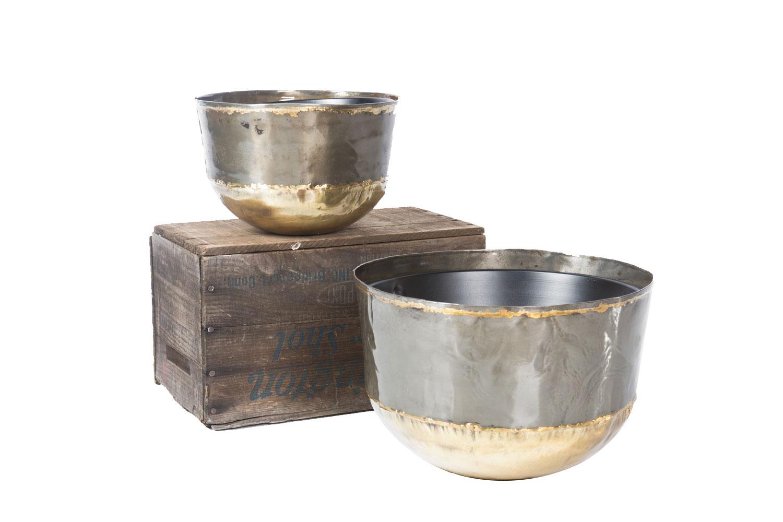 Pewter & Gold Bowl sm 10-,lg 15-