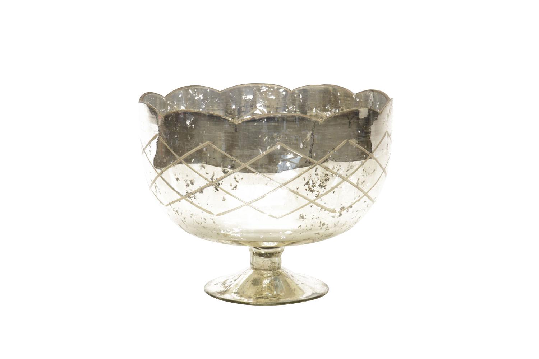 Mercury Glass Compote (9x11) 19-