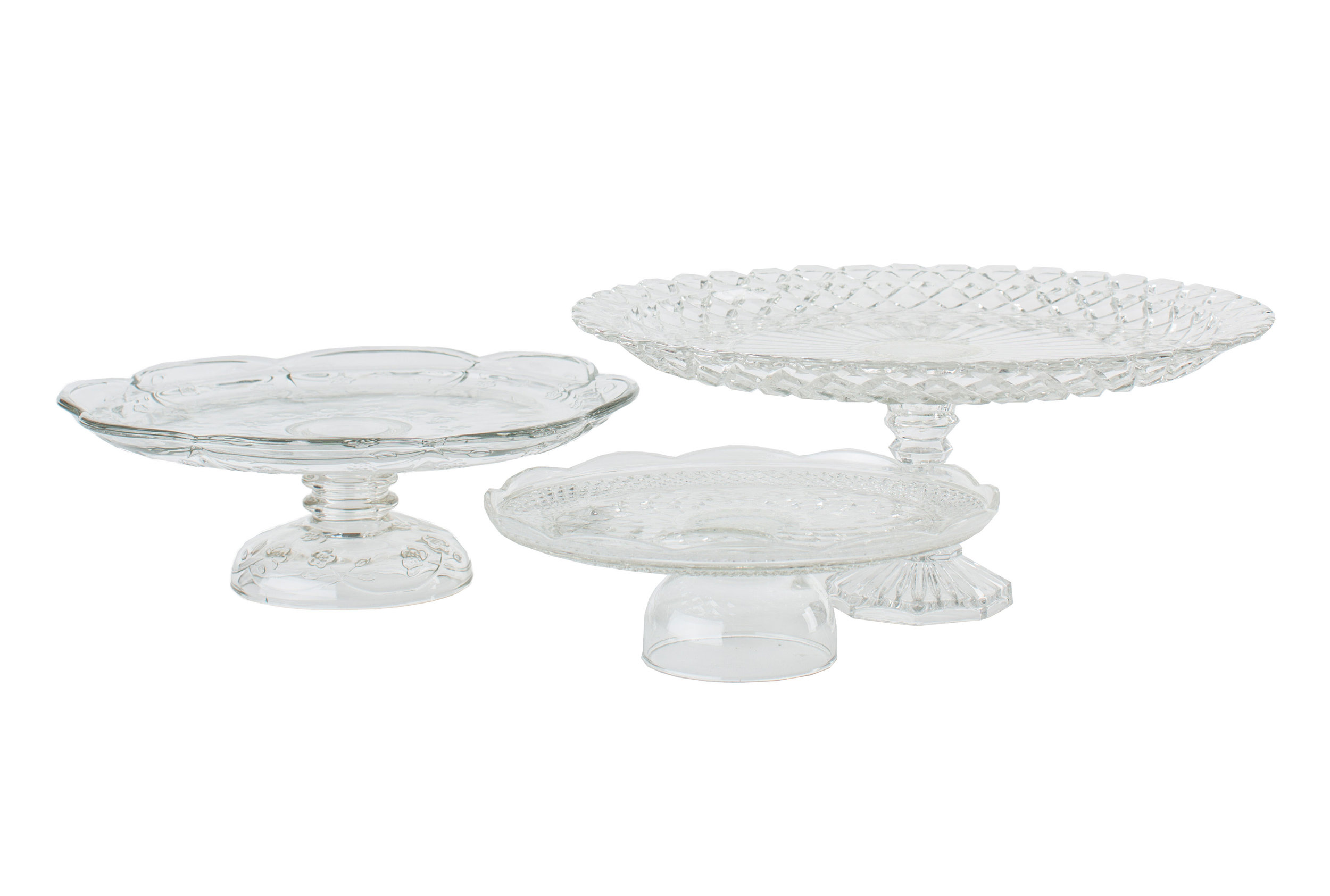 Cut Glass Cake Plates 5-