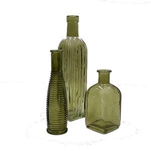 Green Vintage Bottles .75
