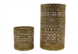 Lattice Vase 6-, votive 3-