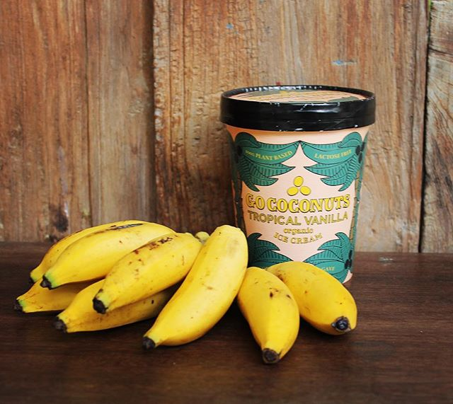 In Bali there's so many kinds of bananas. These little darlings are a perfect choice to enjoy with a Go coconuts Tropical Banana split. 🍌 . . . #gococonuts #veganfoodshare #plantbased #vegan #icecream #plantstrong #glutenfree