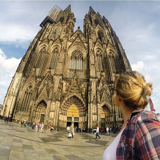 I live for moments that leave me in complete awe! Ive made a point every day that I've been In Cologne to stop by this cathedral and admire its beauty. It honestly looks fake in person! The amount of detail that went into it blows my mind. How?!? My last 10 months of traveling has left me feeling so alive and inspired by this beautiful world we live in. I hope everyone takes time today to appreciate the simple fact that you are alive. Life is such a gift. Don't waste it!  #germany #cologne #köln #travel #wearetravelgirls #wow #solotravel #backpacker #awe #wanderlust #onelife #grateful #thankyou #instatravel #love #worldtraveler #megspire #adventurer #beautiful
