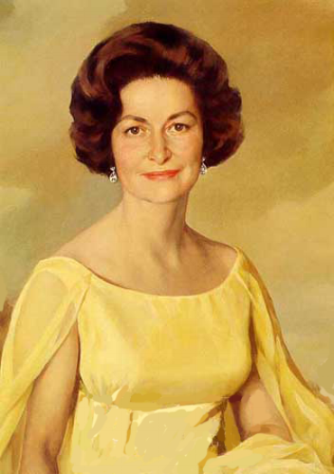 Official White House portrait of Lady Bird Johnson, 1968