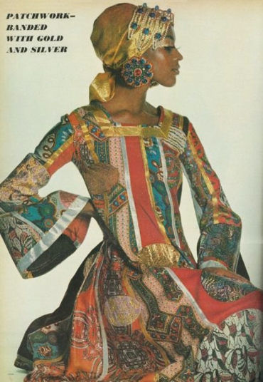 patchwork dress by Giorgio di Sant' Angelo