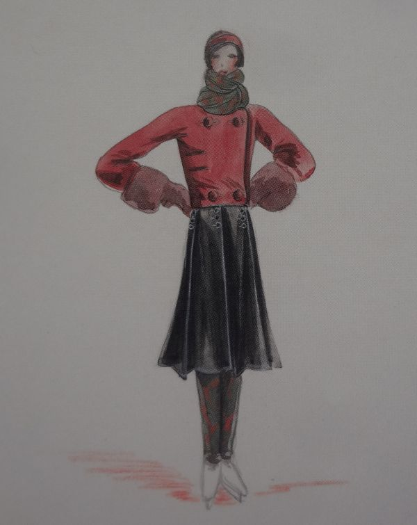 As shown in  Jean Patou: A Fashionable Life , Emmanuelle Polle. The drawing is in the Patou archive.