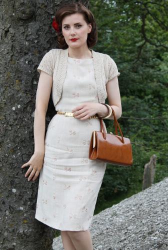Helen in a favorite 1950s dress