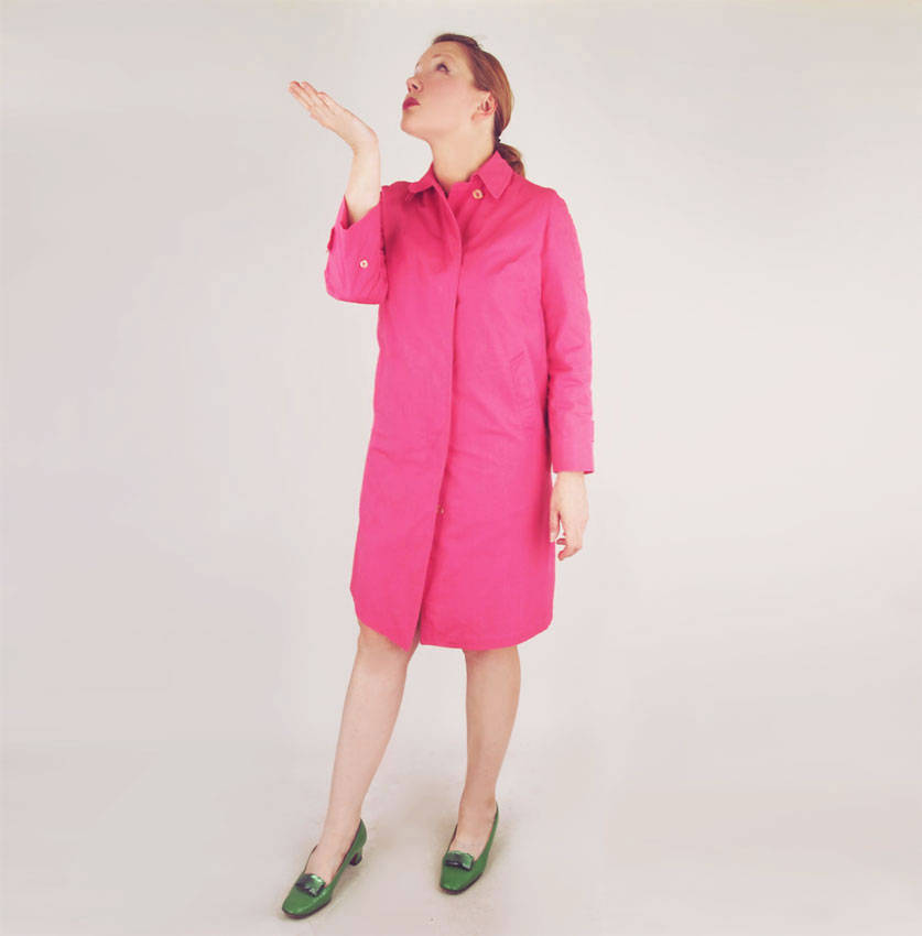 60s Pink Raincoat by London Fog