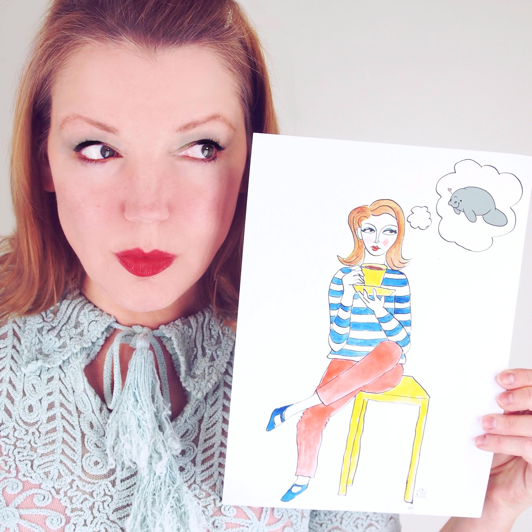 Illustration of me by Anna Davies Art