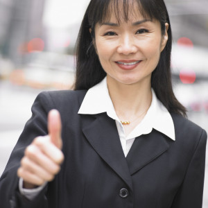 Businesswoman Star Performer