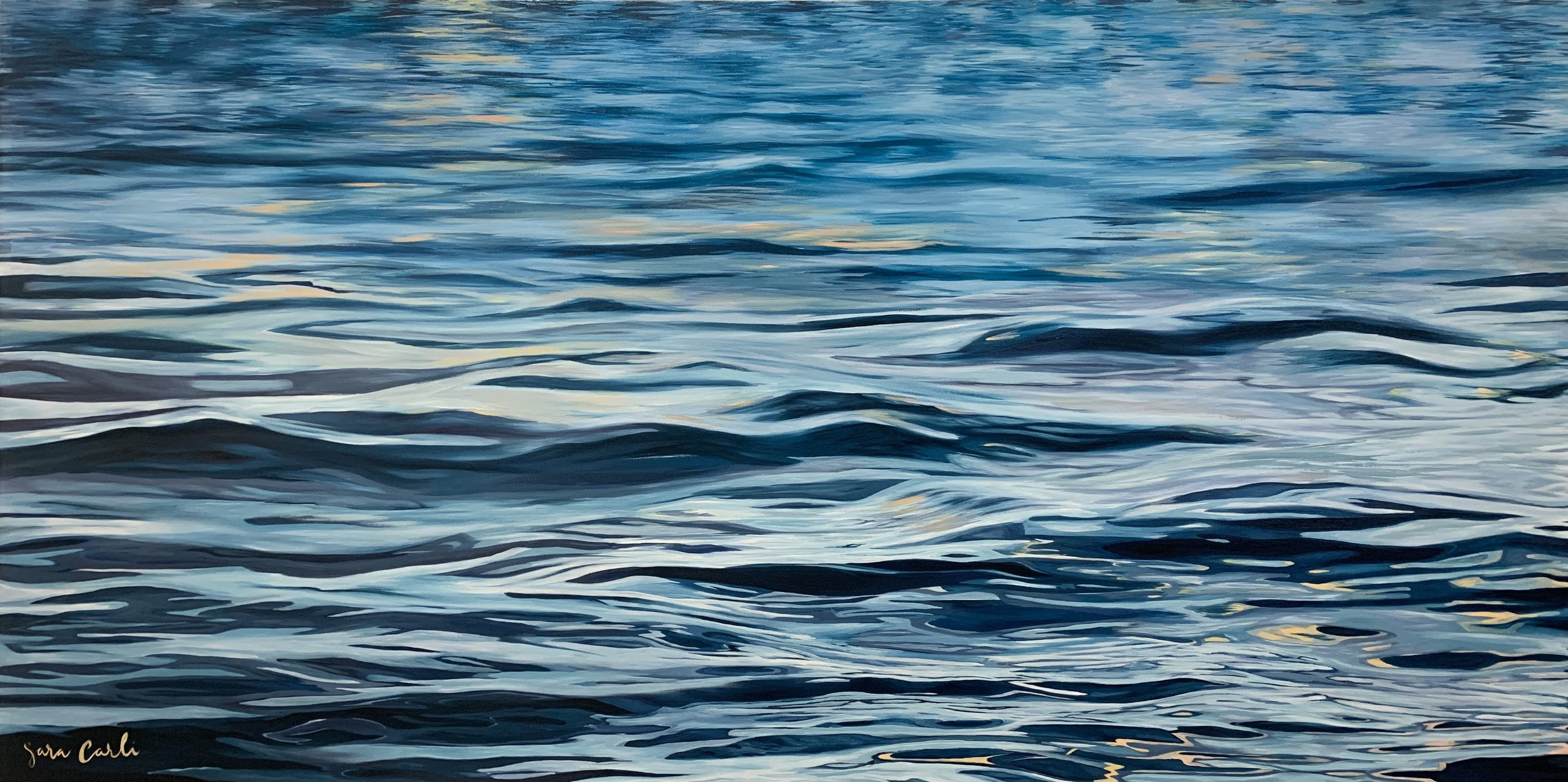 MANHATTAN BEACH , Oil on Belgian Linen, 60 x 30 inches