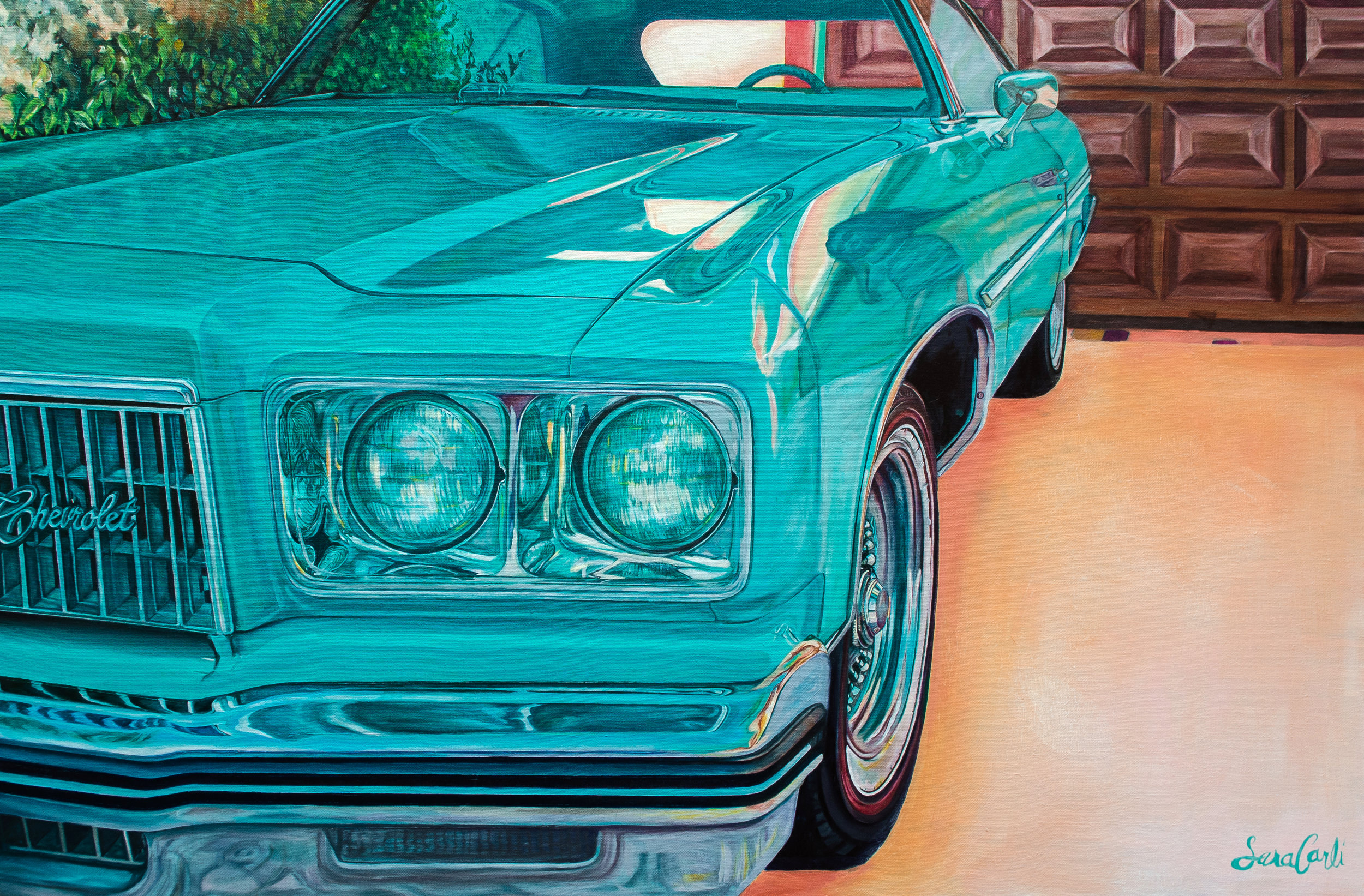 "The Chevy Oil on Belgian Linen 36"" x 24"""