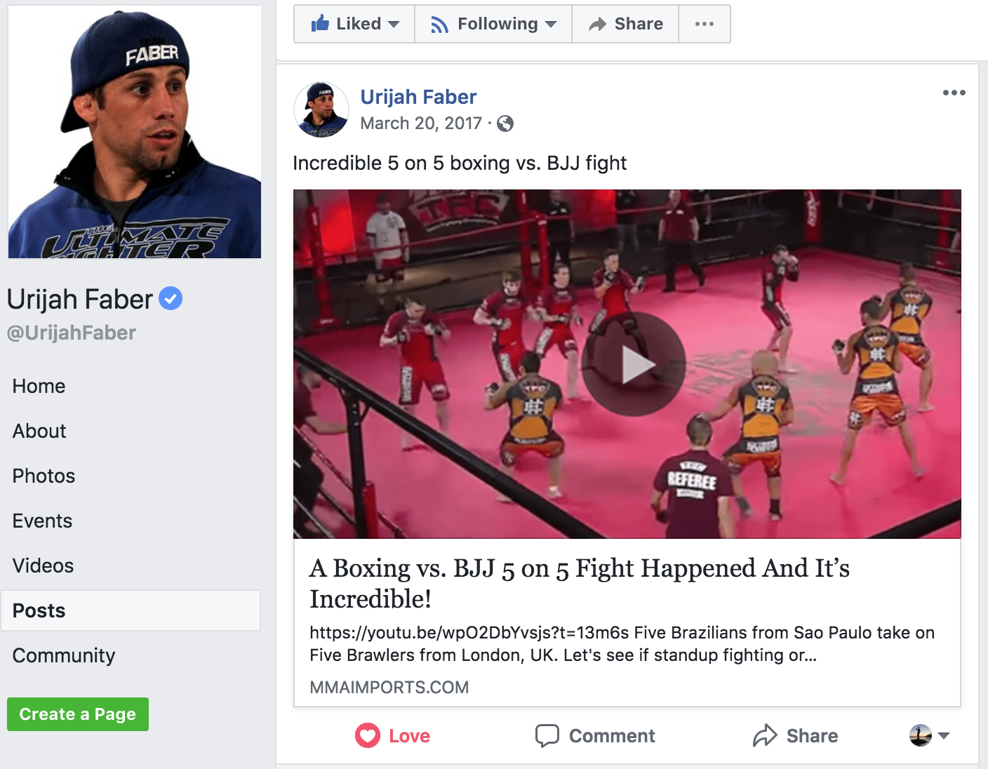 Urijah Faber Loved Our TFC Commentary Video