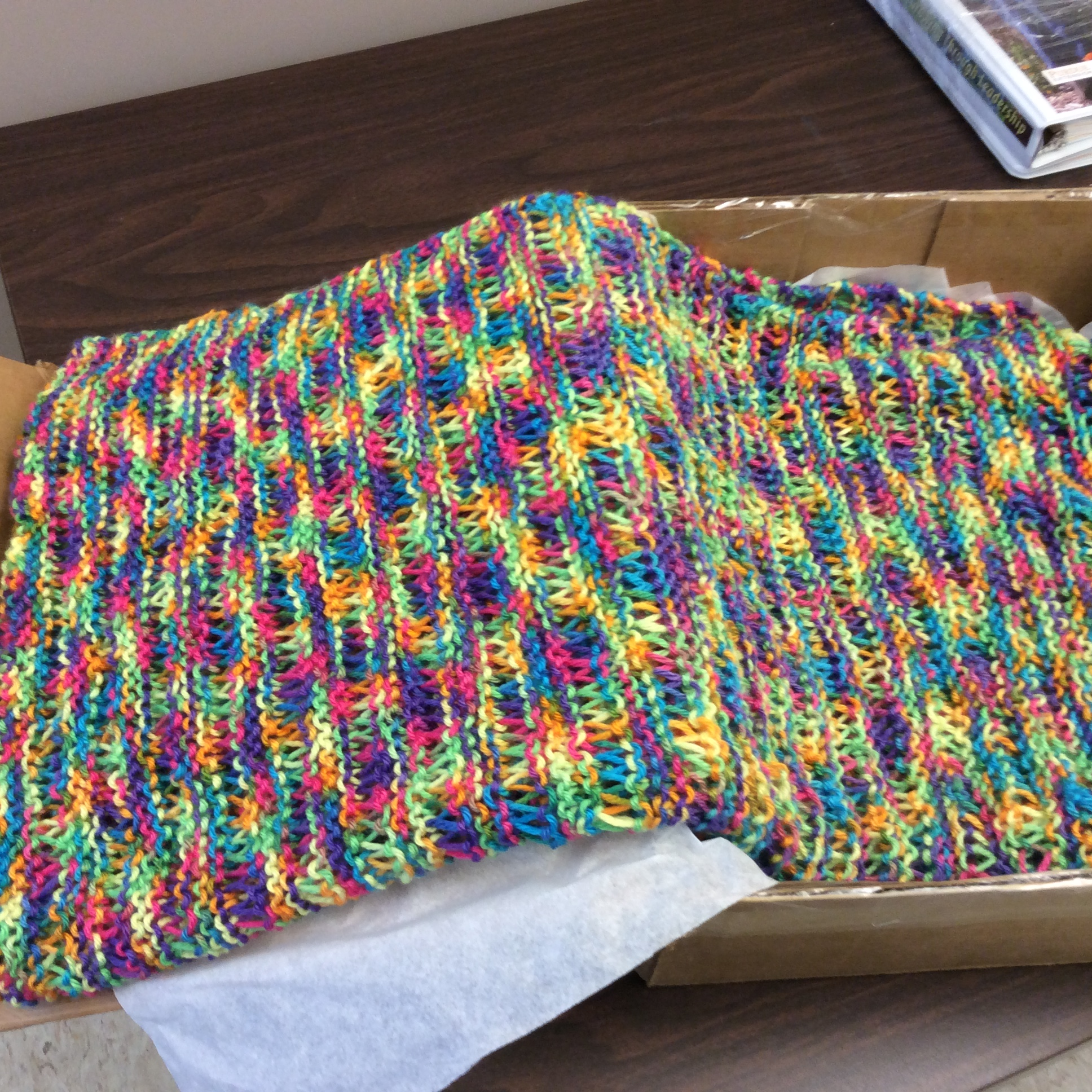 Rainbow Handcrafted Shawl