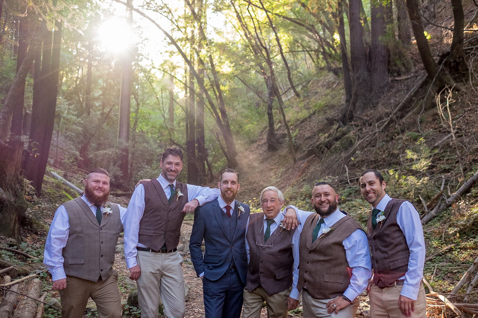 Groom with his father and best men