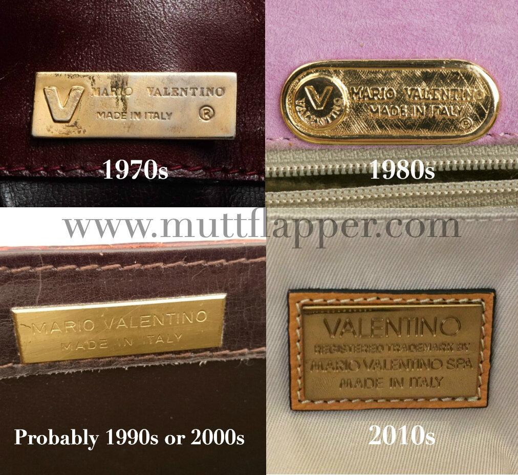Mario Valentino accessories logo changes throughout history