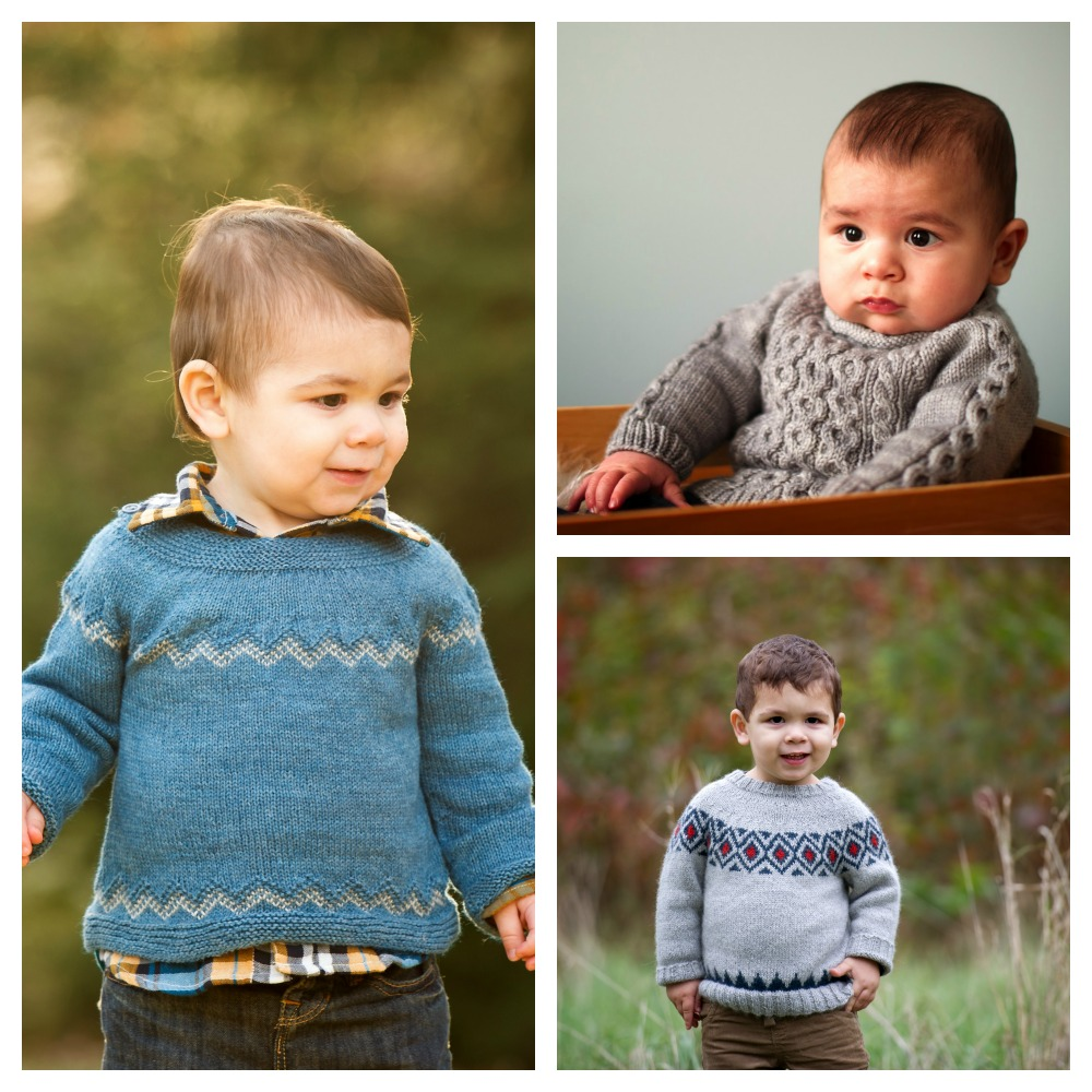 Three years of Christmas Sweaters (clockwise from left):  Mustill ,  Little Fisher ,  Chuckery .