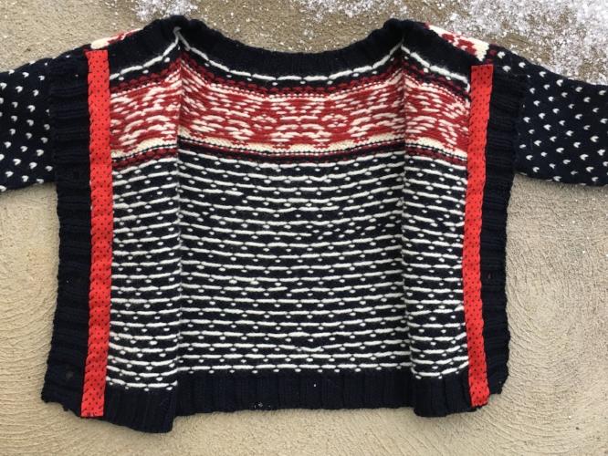 Merriment Cardigan knit by Andrea Sanchez
