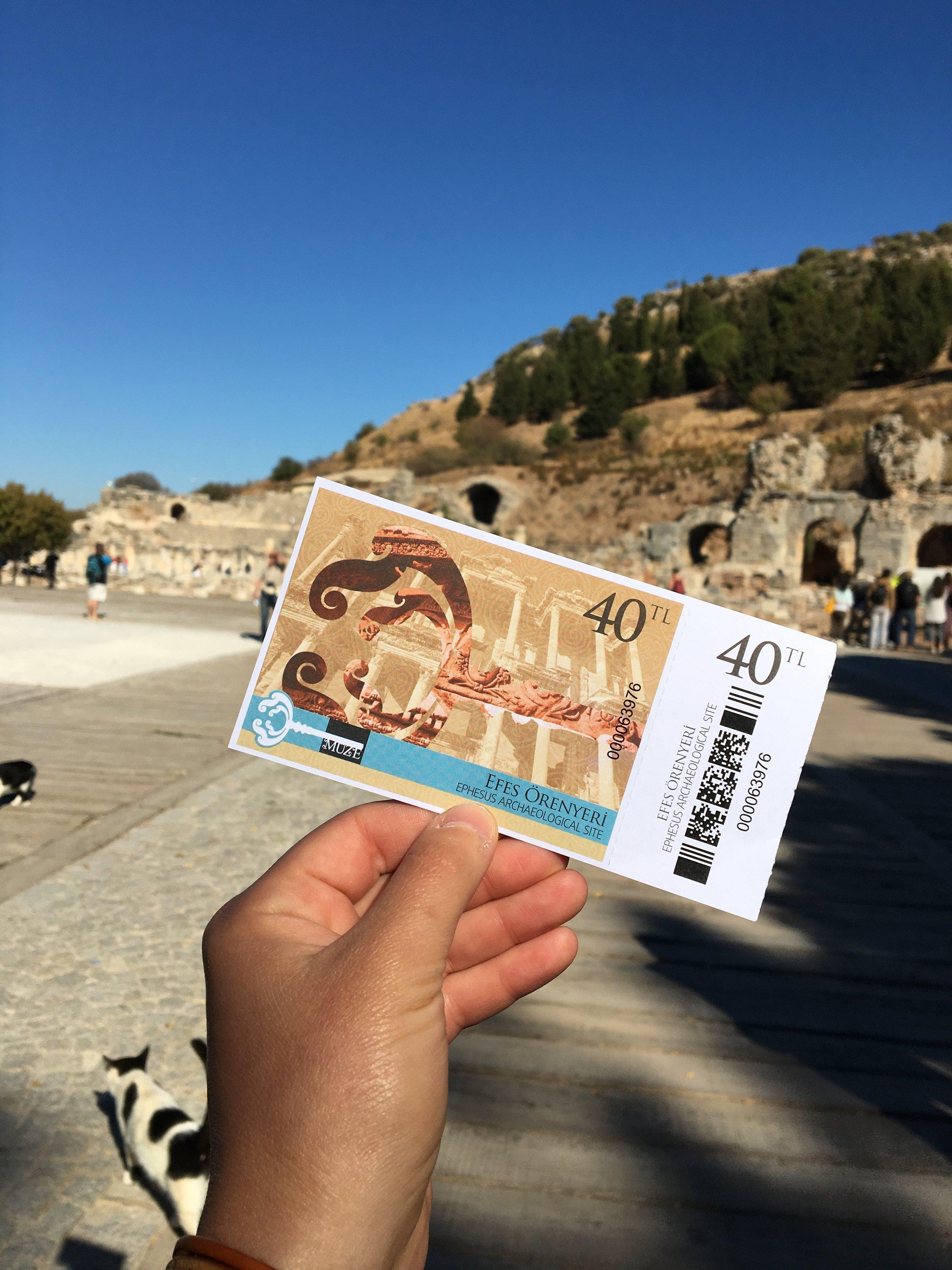 Exploring ruins in Ephesus, Turkey
